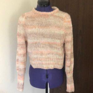 Pastel stripe color sweater